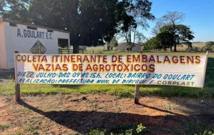 Birigui coleta embalagens vazias de agrotóxicos no próximo dia 22